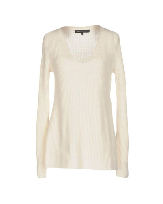 Ralph Lauren Black Label - White Sweaters - Lyst