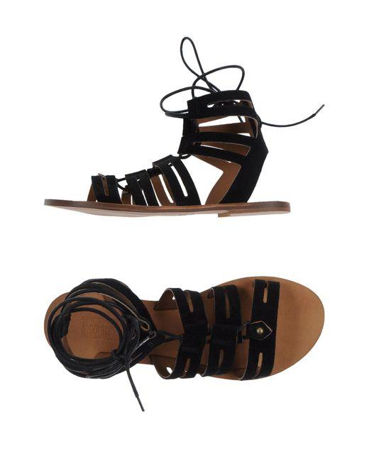 Divine Follie   Black Sandals   Lyst