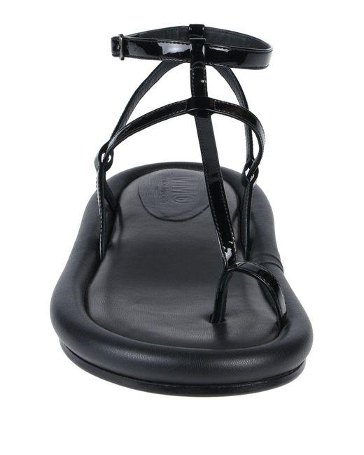 Sandalias de dedo MM6 by Maison Martin Margiela de color Black