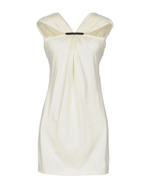 Plein Sud - White Short Dress - Lyst