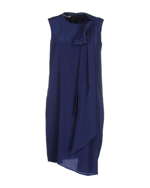 Stefanel - Blue Knee-length Dress - Lyst