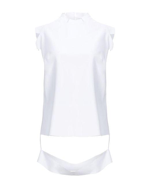 Maison Margiela Top de mujer de color blanco kI8Wj