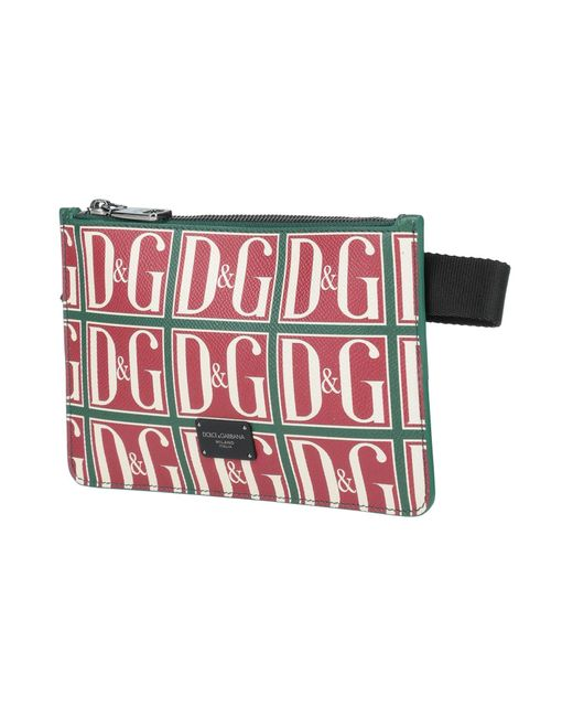 Dolce & Gabbana Red Bum Bag for men