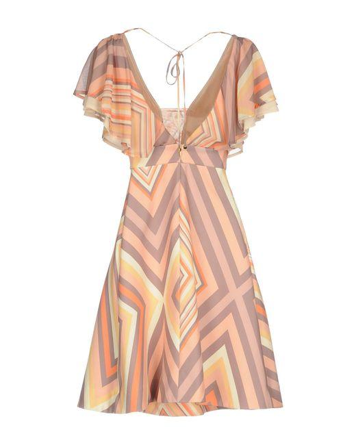 No Secrets Orange Short Dress