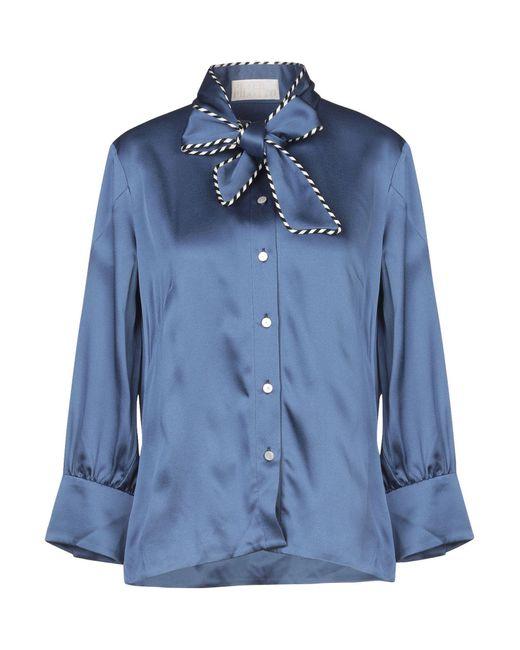 Peter Pilotto Camisa de mujer de color azul S6b6i