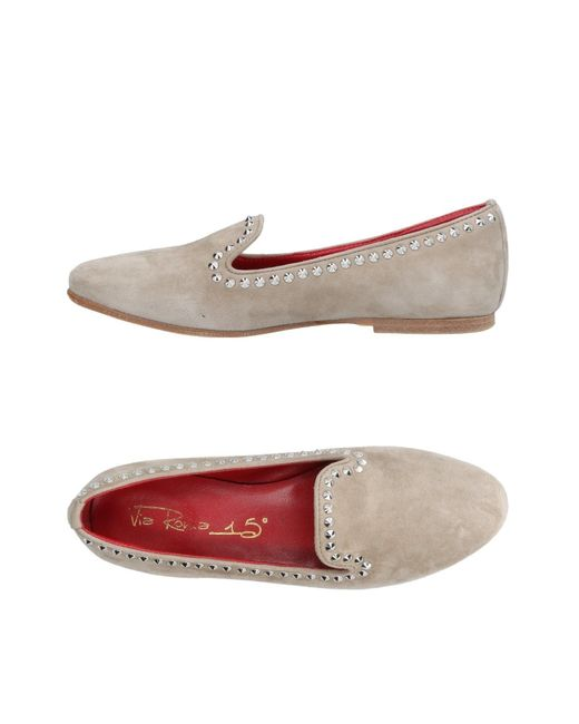 Via Roma 15 - Gray Loafers - Lyst