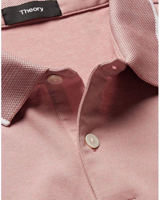 Polo di Theory in Pink da Uomo