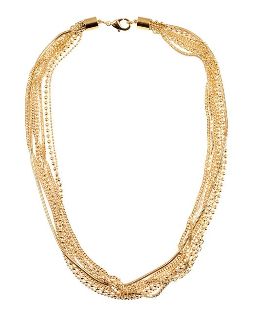 MM6 by Maison Martin Margiela - Metallic Necklaces - Lyst