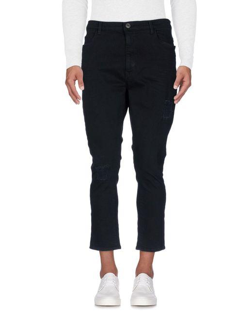 Trussardi Black Denim Trousers for men