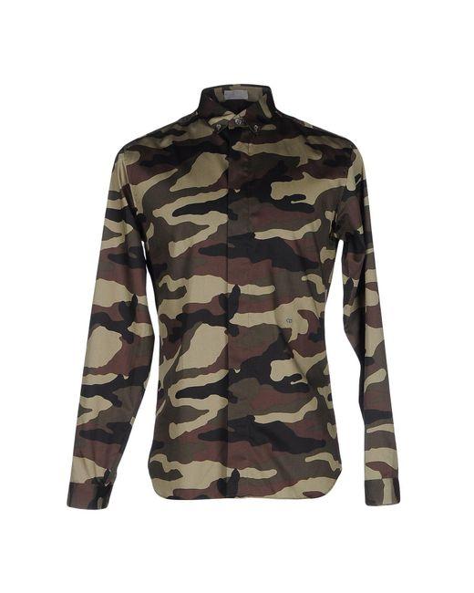 Dior Homme - Green Shirt for Men - Lyst