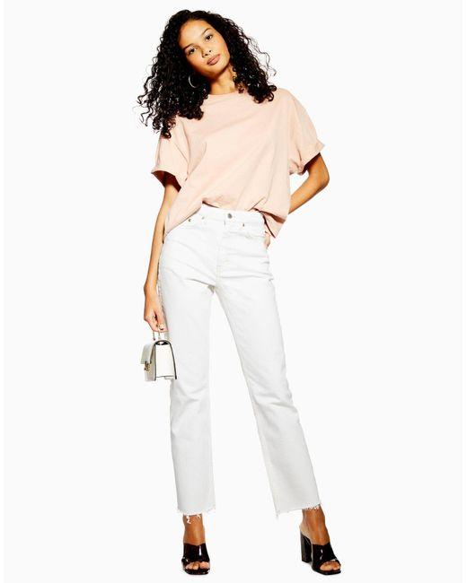 Pantalon en jean TOPSHOP en coloris White