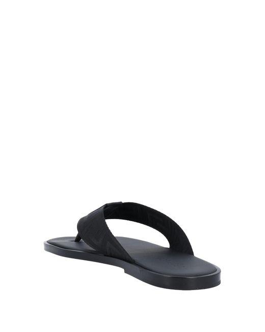 Versace Black Toe Post Sandal for men