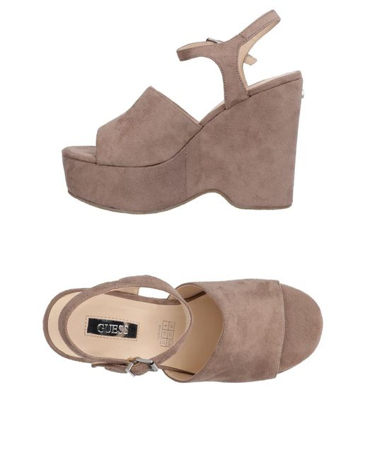 Guess - Gray Sandals - Lyst