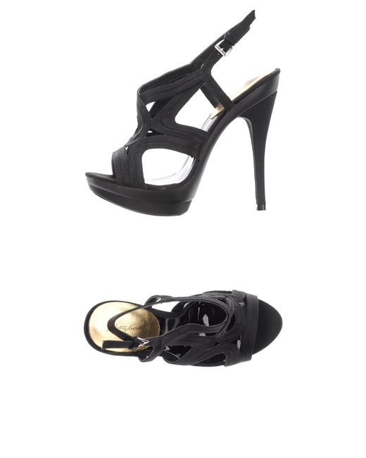 Alberto Moretti - Black Sandals - Lyst