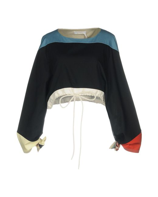 Chloé Blusa de mujer de color negro FY6Pn