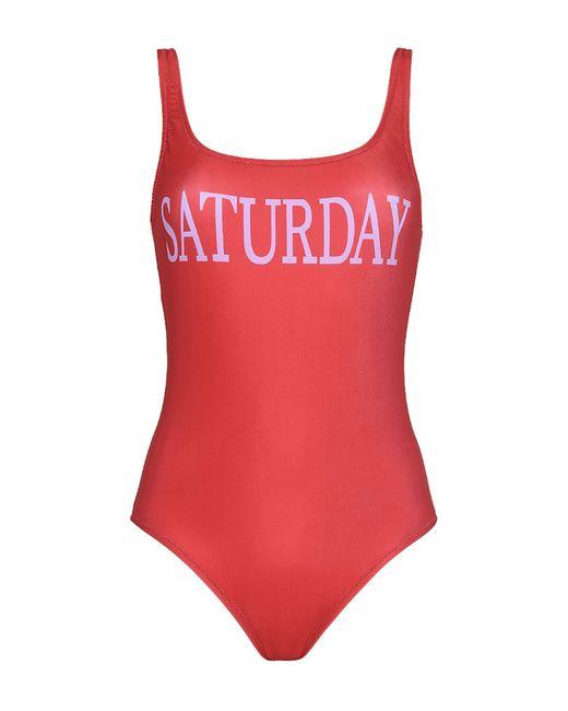 Alberta Ferretti - Red One-piece Swimsuit - Lyst