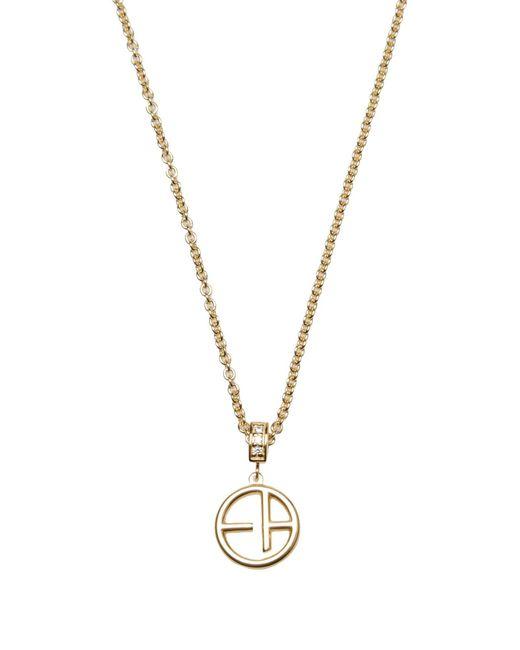 Emporio Armani - Metallic Necklace - Lyst