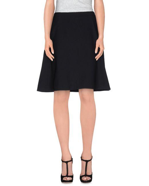 Acne - Black Knee Length Skirt - Lyst