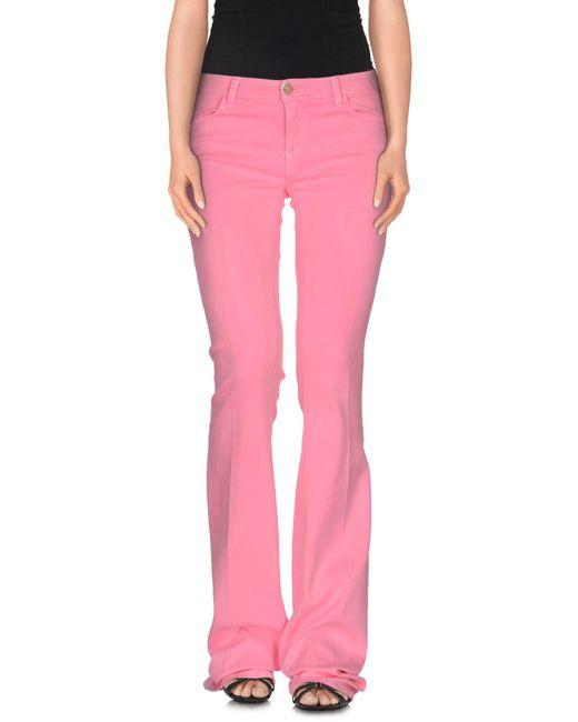 Twin Set - Purple Denim Trousers - Lyst