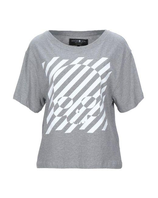 T-shirt Hydrogen en coloris Gray