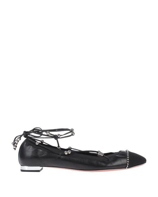 Aquazzura Black Ballet Flats