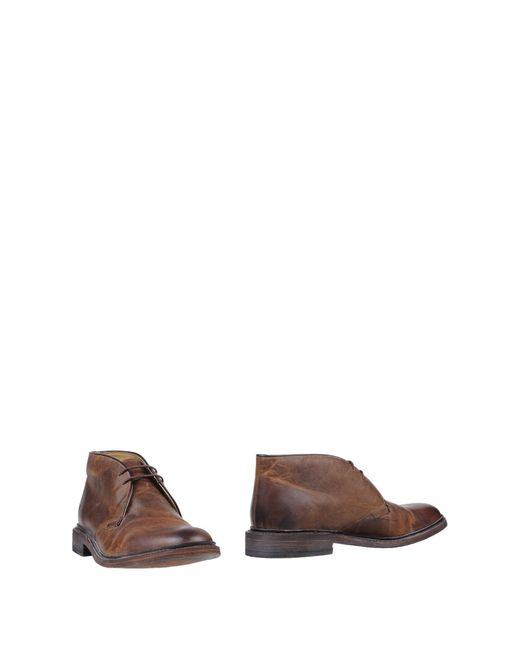 Frye - Brown Ankle Boots for Men - Lyst