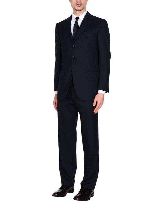 Burberry - Blue Suit for Men - Lyst