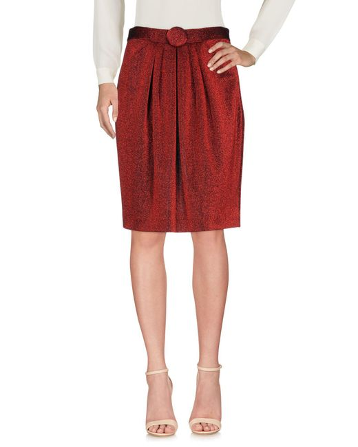 Boutique Moschino - Red Knee Length Skirt - Lyst