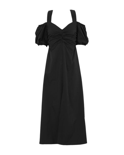 TOPSHOP Black 3/4 Length Dress