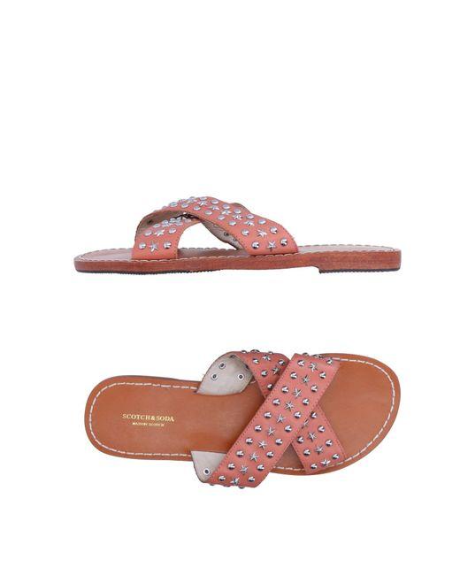 Scotch & Soda - Pink Sandals - Lyst