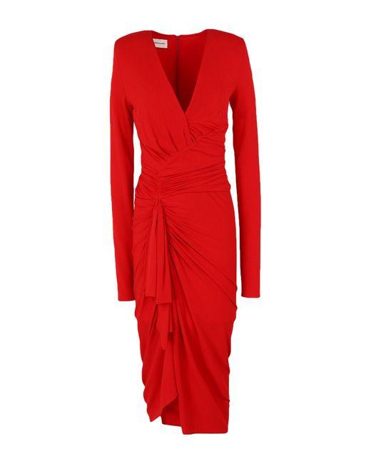 Alexandre Vauthier Red Knielanges Kleid