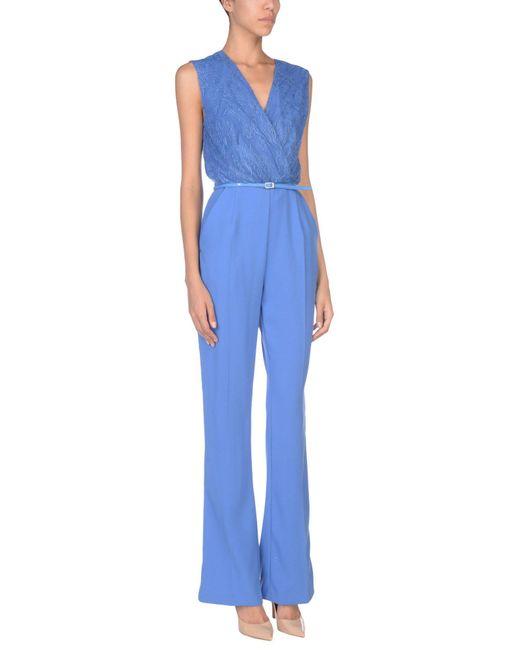 Elisabetta Franchi - Blue Jumpsuit - Lyst