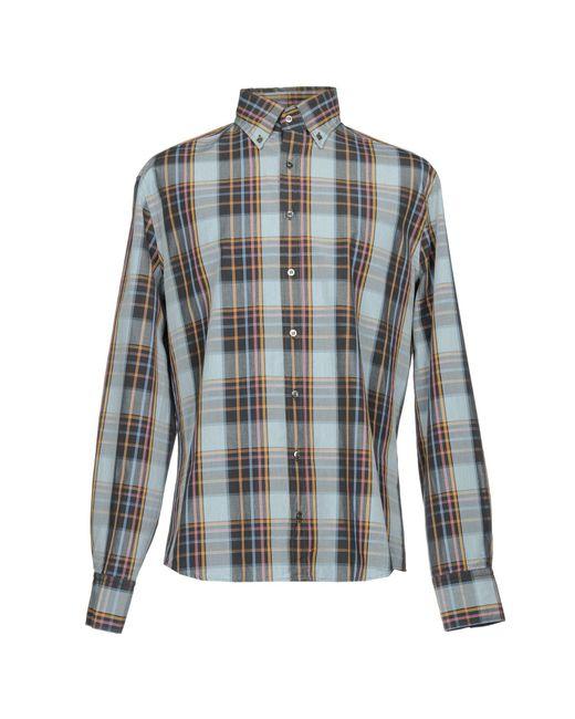 Camisa Michael Bastian de hombre de color Gray