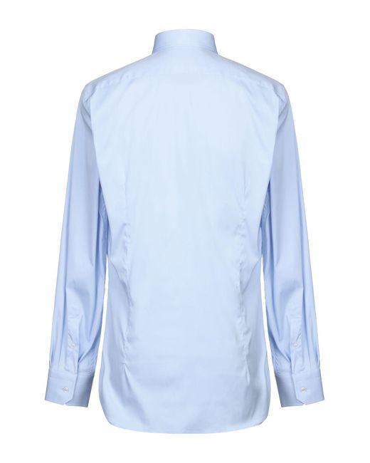 Camicia di Laboratorio Del Carmine in Blue da Uomo