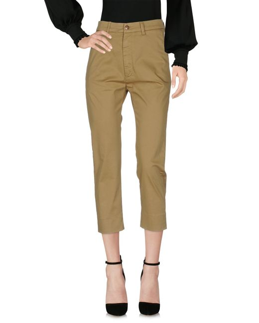 People Green Casual Pants