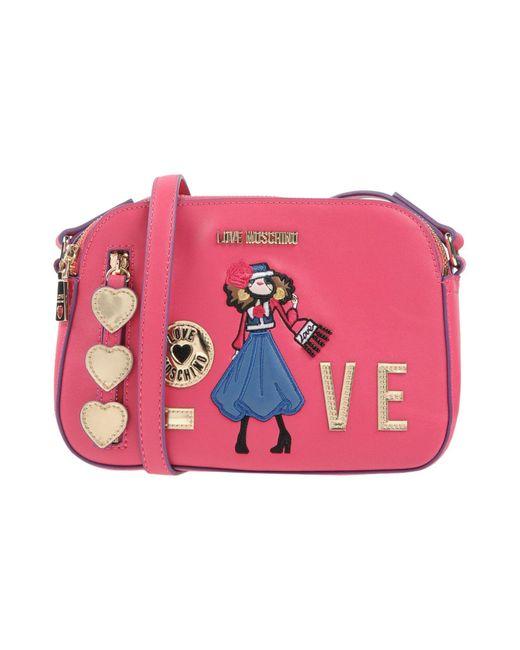 Love Moschino - Pink Cross-body Bag - Lyst