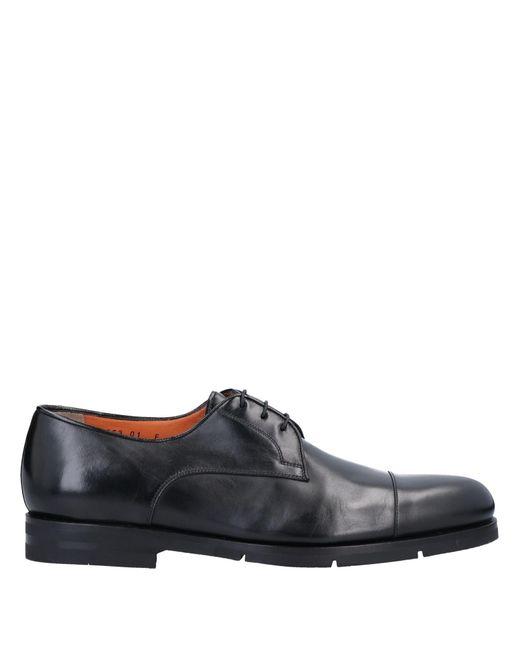 Santoni Black Lace-up Shoe for men