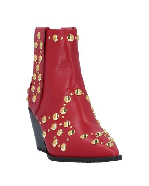 Casadei Red Stiefelette