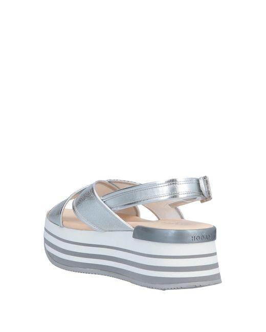 Hogan Metallic Sandals