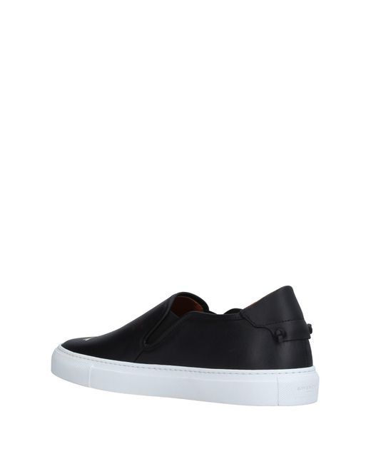 Givenchy Black Graphic-Print Leather Sneakers for men