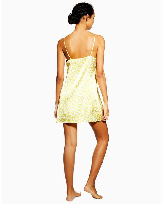 TOPSHOP Yellow Nachthemd