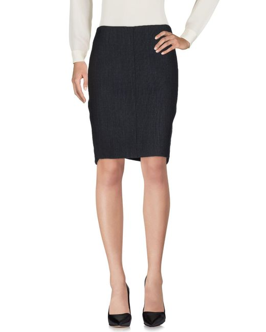 Teresa Dainelli - Black Knee Length Skirt - Lyst