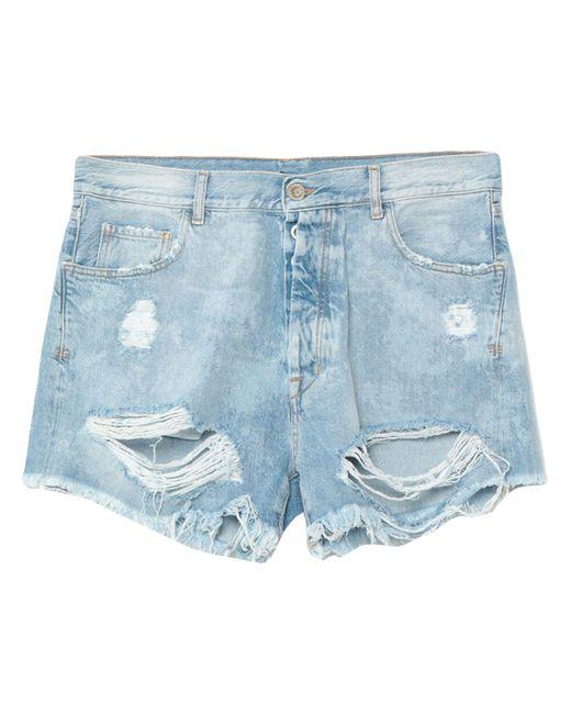 Unravel Project Blue Denim Shorts