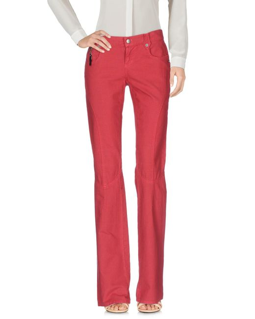 CoSTUME NATIONAL - Red Casual Trouser - Lyst