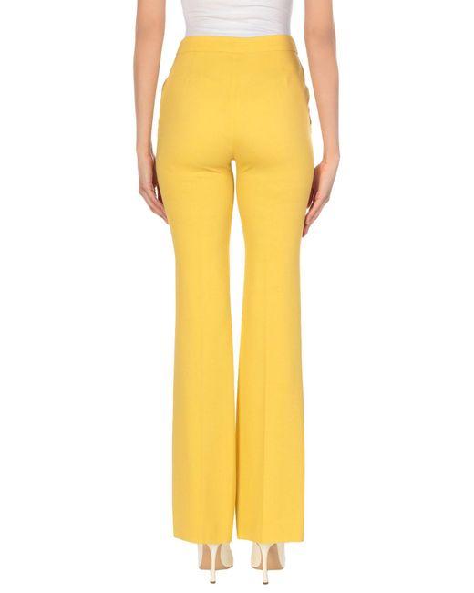 Les Copains Pantalon femme de coloris jaune y8Io8