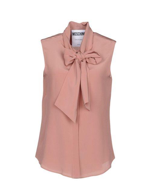 Moschino - Pink Shirt - Lyst