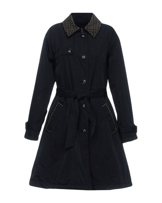 Boutique Moschino - Black Overcoat - Lyst