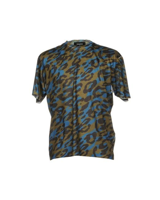 DSquared² - Green T-shirts for Men - Lyst
