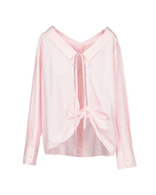 Pinko Camisa de mujer de color rosa iweDX