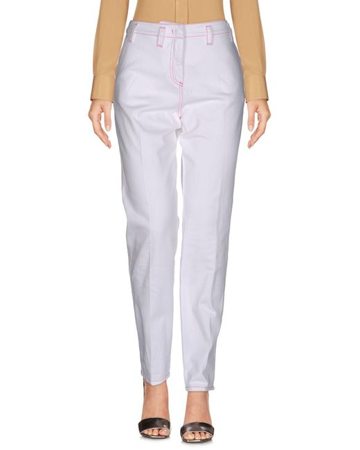 Sportmax Code - White Casual Trouser - Lyst